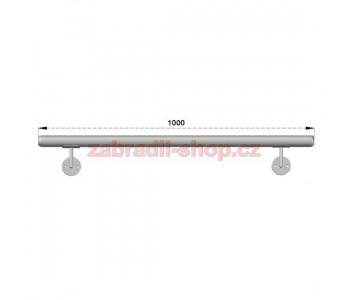 Hliníkové kulaté madlo Na Zeď 1000mm M1S
