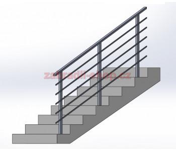 Zábradlí na schody model HK3B