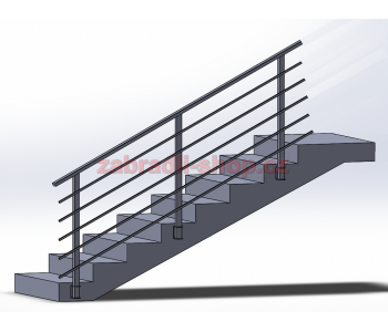 Zábradlí na schody model HK4B