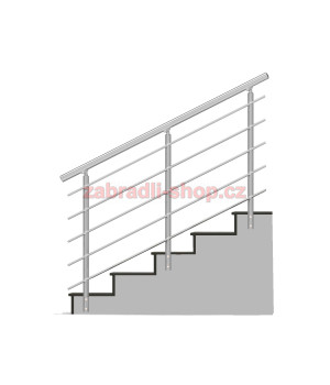 Kulaté zábradlí na schody BRONZ imitace nerez model B3BSB