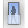 Hranaté zábradlí na francouzské okno HKFR2